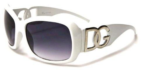 Kids Children DG Designer Fashion Sunglasses - Girls Ages 2-12 (White)
