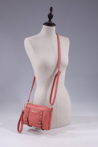 MKF by Collection Mia Double Crossbody Compartment K Cara Farrow Red qqA1g