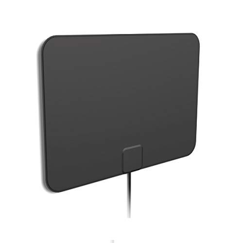 [2019 Latest] HD Digital Amplified TV Antenna - Support 4K 1080P & All Older TV's Indoor Powerful HDTV Amplifier Signal Booster - Coax Cable Included