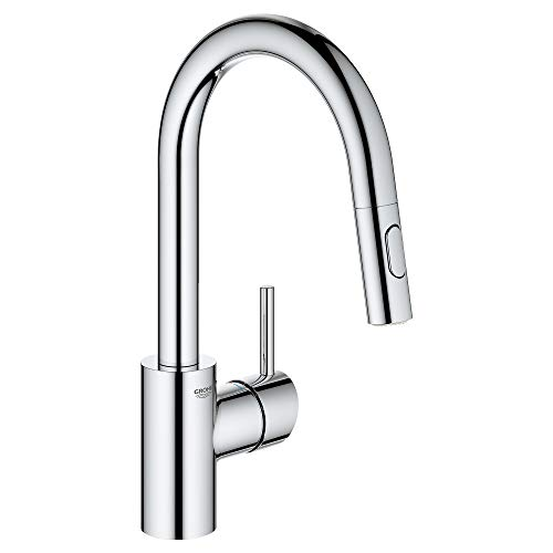 - GROHE 31479001 Concetto Single-Handle Kitchen Faucet, Starlight Chrome