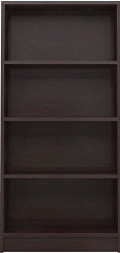 Valtos Enzo Engineered Wood Open Book Shelf  Matte Finish, Wenge