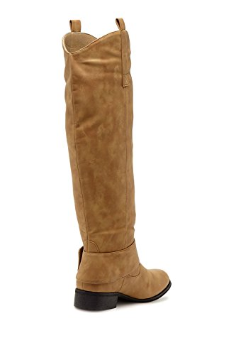 Charles Up Tan Buckle Light High Albert Pull Tabs and Riding Knee with Women's Boot qxqCgTvwS