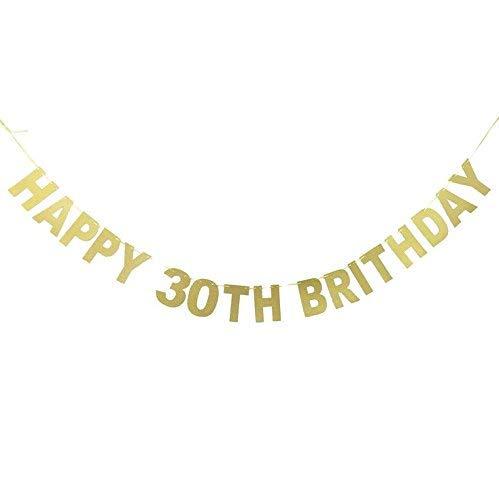 Veewon Feliz trigésima bandera del cumpleaños El brillo del ...