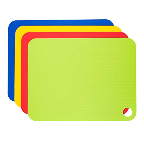 Set Flexible Mats Chopping (Tovolo Flexible, Non-Slip Cutting Mats, 11.5 x 15 Inches - Set of 4)