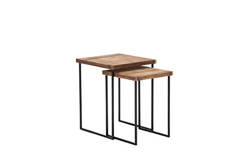 Belmont Home Langston Reclaimed Wood Nesting Tables (Set of 2)