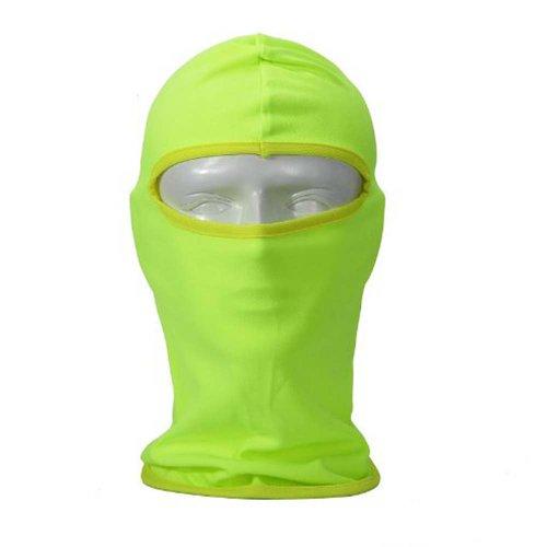 ike Football Helmet Reflective CS Face Mask Sports Balaclava - Green (Face Football)