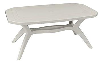 Grosfillex Table De Jardin Ibiza-165X100 Blanc: Amazon.fr: Jardin