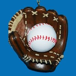 Baseball and Mitt Ornament Baseball Christmas Ornaments