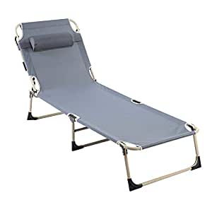 Amazon.com: Silla de salón plegable, reclinable, portátil ...