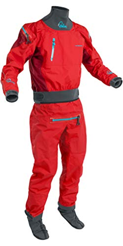 Back Zip Drysuit - Palm 2019 Mens Atom Back Zip Kayak Drysuit + CON Zip Flame/Chilli 12380 Drysuit Size - L