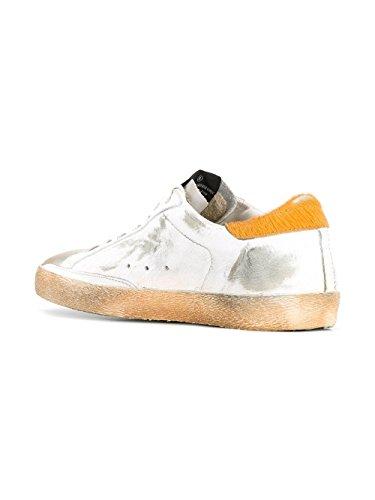 Golden Goose Sneakers Uomo G30MS590B31 Pelle Arancione/Bianco
