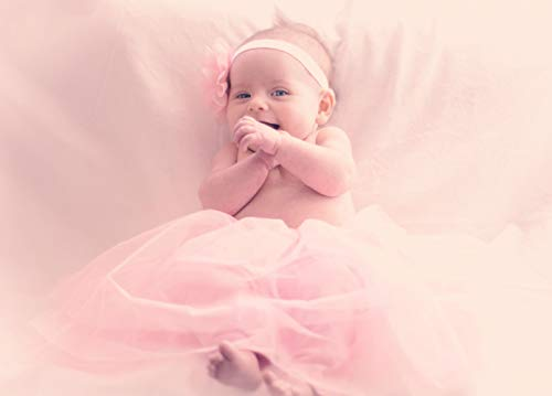 Newborn Photography Props for Girl Set – Butterfly Baby Pillow & Newborn Photography Outfit – Pink Tutu & Flower Headband - Photo Props for Baby Basket Filler and Backdrops – Newborn Gift for Girl by Sunshine Nooks, LLC (Image #2)