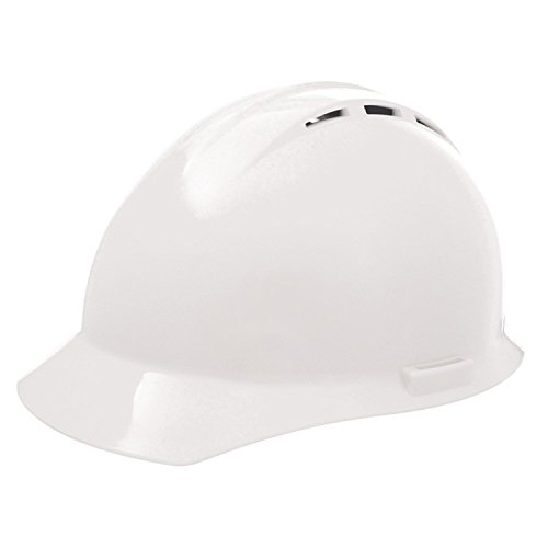 ERB 19451 Americana Vent Cap Style Hard Hat with Mega Ratchet, White