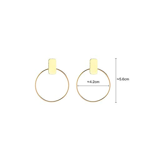 SENOMOR Fashion Hoop Earring Gold Plated Hoop Earrings Exaggerated suits Long face Earrings For Women Girls