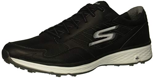 Skechers Men's Fairway Plus Fit Golf Shoe, Black/White, 15 M US