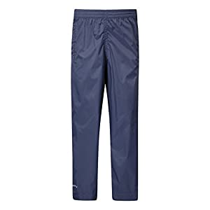 Mountain Warehouse Pakka Kids 100% Waterproof Rain Over pants all ages Navy 7-8 years