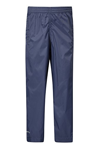 Mountain Warehouse Pakka Kids Rain Pants - Waterproof Pants Navy 9-10 years