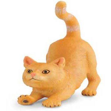 CollectA 88324 British Shorthair Cat Stretching - Realistic Cat Breed / Feline Toy Replica