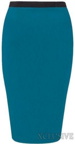 jersey jupes 54 44 midi de occasionnels femmes nouvelles jupes plus Teal taille wSBY4Inxqf