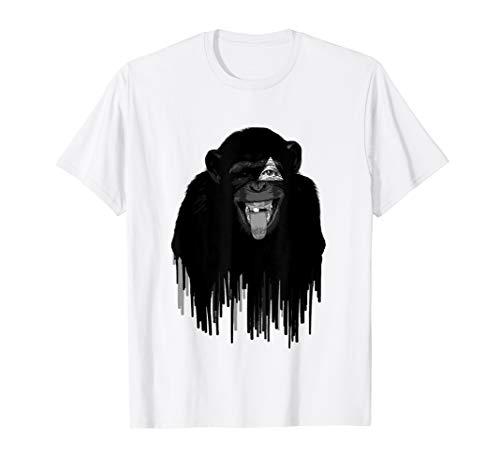 All Seeing Eye Monkey Illuminati Cool Conspiracy T shirt