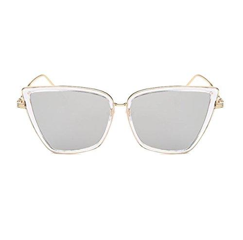 HAOYUXIANG Trend Fashion Sonnenbrillen Europa Und Die Vereinigten Staaten Retro Helle Farbe Männer Und Frauen Tinte,TransparentBoxEarthHaoGold