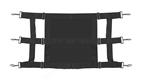 Showman Heavy Duty Webbed Nylon Solid Front Stall Guard Horse Pony Adjusts 36-48 (Black) by Showman (Image #1)