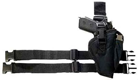 Bulldog Cases Right Hand Black Tactical Leg Holster (Fits Most Large Frame  Auto's with 3 1/2 - 5-Inch Barrels, Ruger P90)