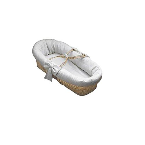 Babydoll Waffle Pique Baby Moses Basket -White 009243064671