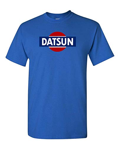 Datsun White Retro Logo T-Shirt New! Tee 240z 260z 280z ZX 510 Fairlady (M, Royal Blue)