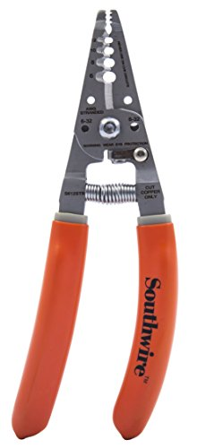 Southwire Tools & Equipment S612STR 4-10 AWG SOL & 6-12 AWG STR Ergonomic Handles Wire Stripper/Cutter