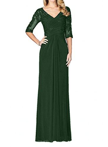 Braut Neu Abschlussballkleider Dunkel Partykleider Lang Chiffon Abendkleider La Ballkleider Brautmutterkleider Gruen 2018 Elegant mia gqzwt54