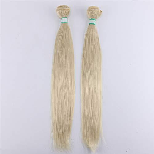 14-30 Inch 100 Gram Silky Straight #2 Dark Brown Synthetic Hair Weave Yaki Straight Hair Bundles #613 30inch 2 Pieces ()
