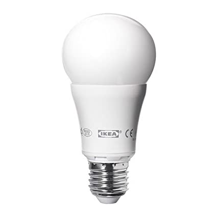 IKEA ledare - Bombilla LED E27, regulable, globo blanco opal - 600 lm
