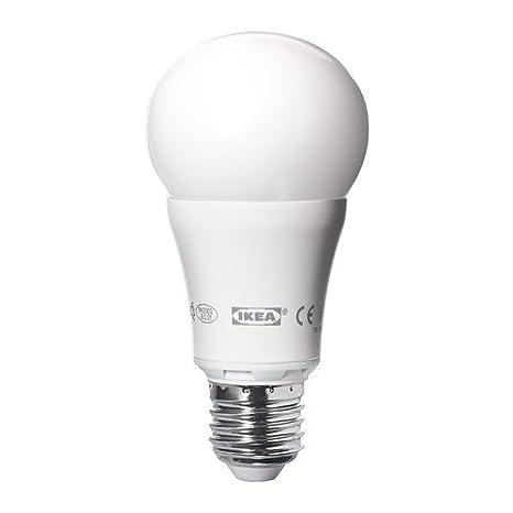 IKEA ledare - Bombilla LED E27, regulable, globo blanco opal - 600 lm: Amazon.es: Hogar