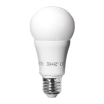 IKEA - Bombilla LED LEDARE E14, globo ópalo blanco - 200 lm, OPAL 600LM-10W, E27: Amazon.es: Hogar