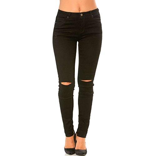 Line trou Genoux Noir aux Wear Miss Slim Pantalon Jeans ZPz5nxqY