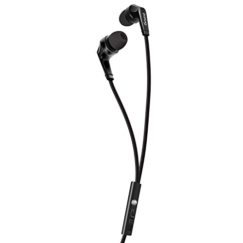 iSound DGHP-5722 ISOUND – EM 60 Earbuds with Big Bass Stereo Sound, Tangle Free Flat Cable, and Inline Microphone – (Dreamgear Earphones)