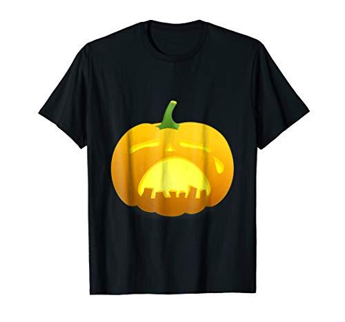 (Funny sad halloween shirt Pumpkin Face Cry T-shirt)