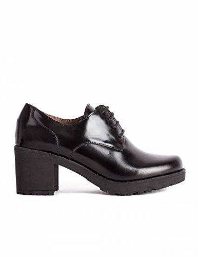 Bryan 37 Zapatos Mujer Tacón Cordón Color NegroTalla Zapato bgf6yY7