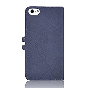 LCJ Angibabe Detachable PU Leather Case Cover with Card Slot for iPhone 5/5S , Blue