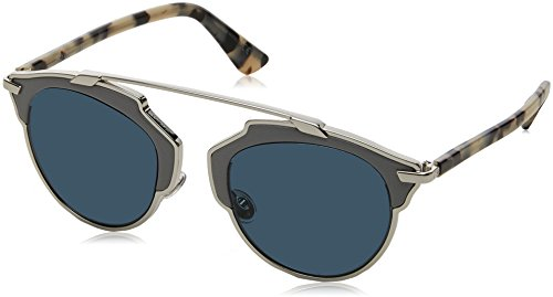 Dior Women CD SO REAL/L 48 Grey/Grey Sunglasses - Sunglasses Dior Real Silver So
