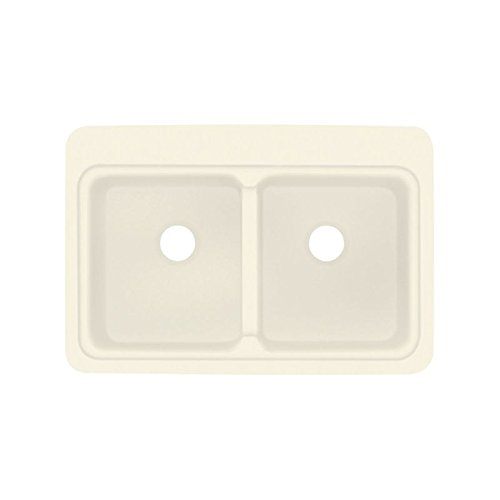Biscuit Composite Top Mount (Transolid KDT3322C-08 33in x 22in Top Mount Self-Rimming Charlotte Kitchen Sink, Biscuit)