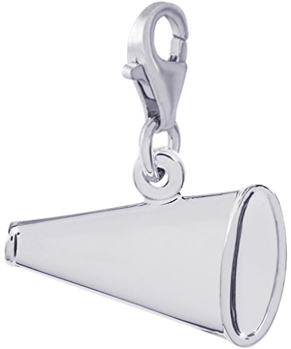Rembrandt Charms, Megaphone with Clasp.925 Sterling Silver, Engravable