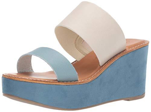 (Chinese Laundry Women's Ollie 2 Slide Sandal, Blue/Ivory, 7.5 M US)