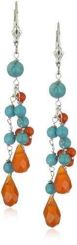 "Karen London ""Natural Stones Flower"" Boho Earrings"