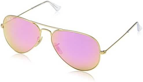 Ray-Ban Women's Oversized Polarized Aviator Sunglasses