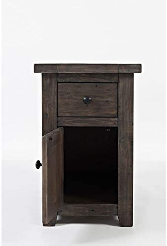 Jofran Madison County Pine Reclaimed Chairside End Table, Barnwood Brown