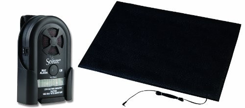 Secure MAT-3 Floor Mat Patient Alarm Set - 24 inch x 36 inch Alarming Floor Mat for Fall and Wandering Prevention - Batteries Included (Mobility Alarm)