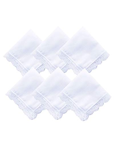 Lace / Embroidery Perfect Wedding Cotton Handkerchiefs Bulk