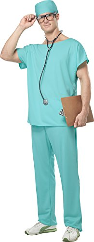California Costumes Men's Doctor Scrubs Costume, Green, Large